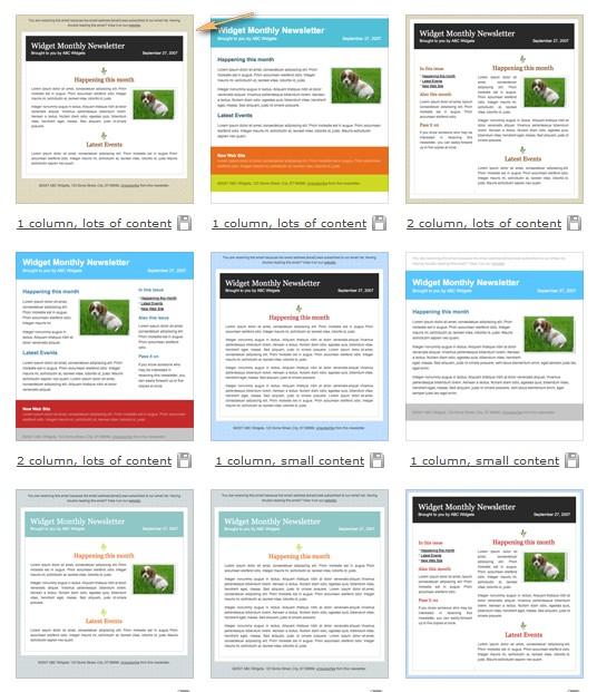 """Des """"templates"""" pour vos emails ou newsletters 2008-086"""