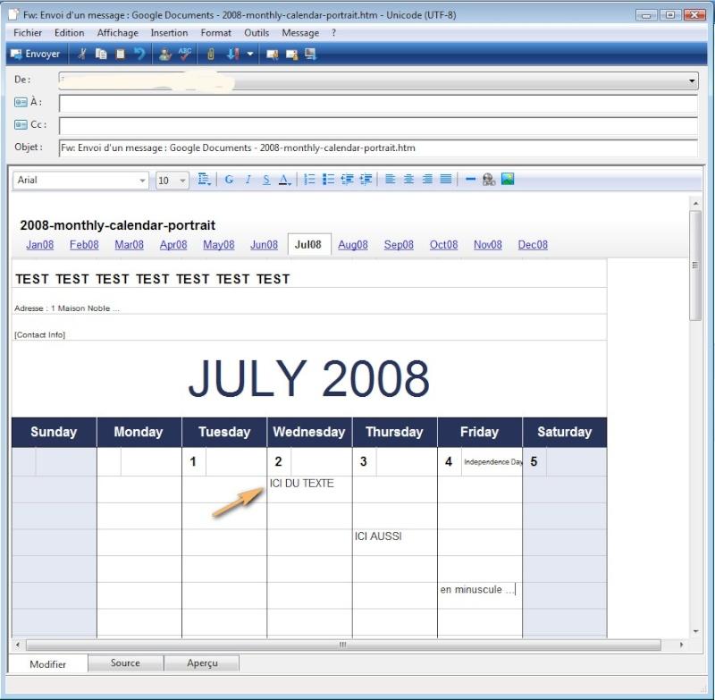 """Des """"templates"""" pour vos emails ou newsletters 2008-088"""