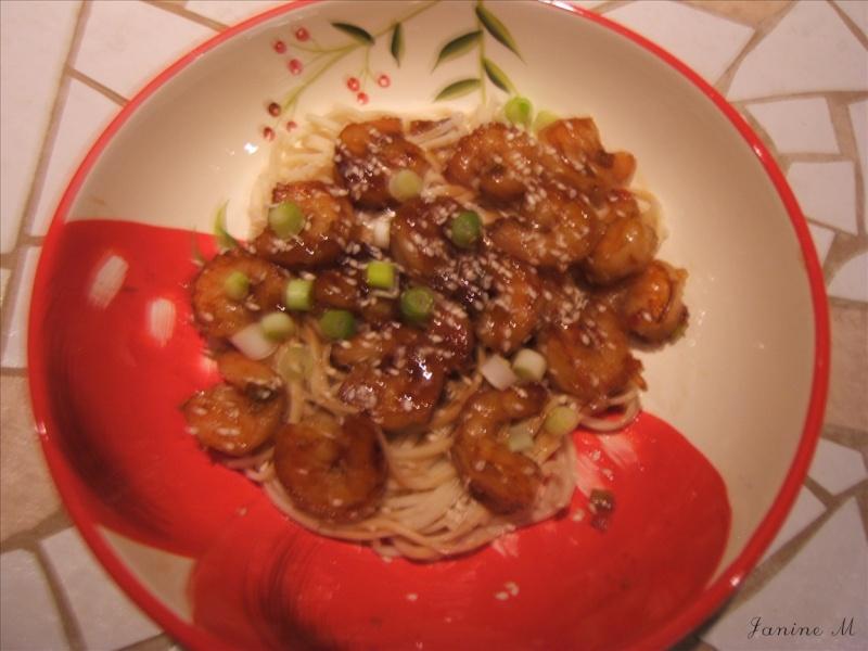 Sauté de crevettes Thailandaises  Dscf0114