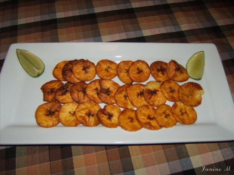 Banane plantain frite et sel à la lime  Dscf0117
