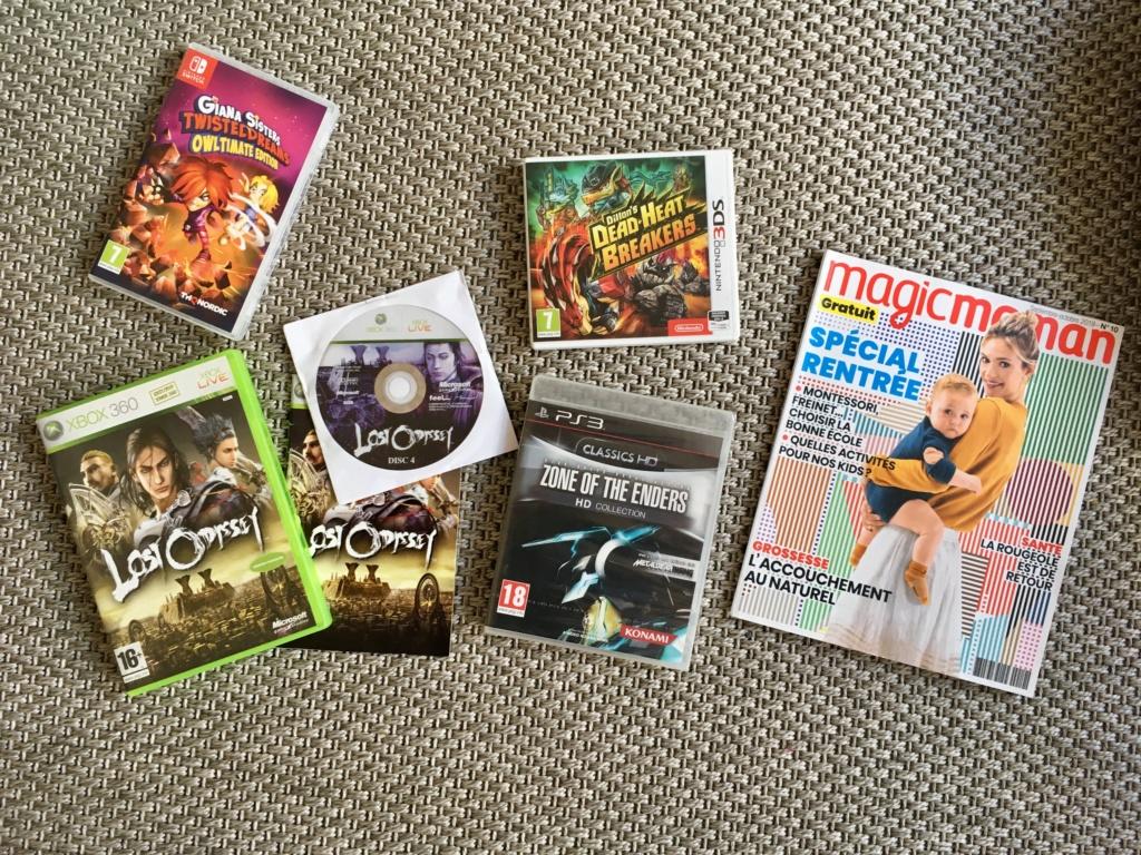 JE REÇOIS, JE DONNE : Darkest Dungeon Switch ou DBZ Xenovers 2 Switch ou DJ Max Technika Tune Vita ou PokémonSoleil 3DS - Page 12 Img_0910