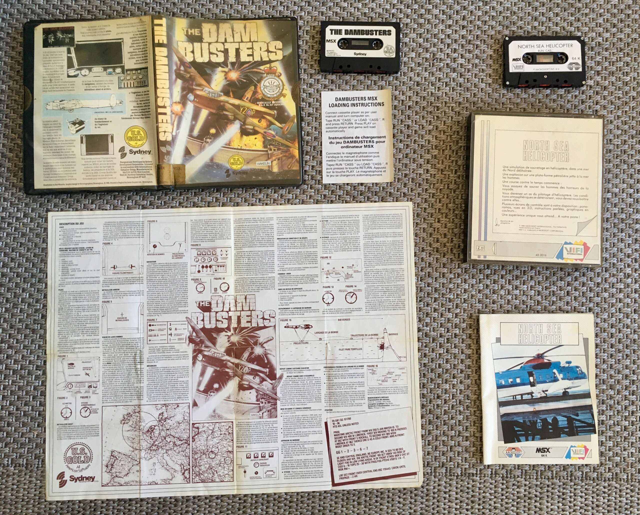 [EST] jeux MSX k7 complets: North Sea Helicopter (FR) + Dam Busters Img_3717