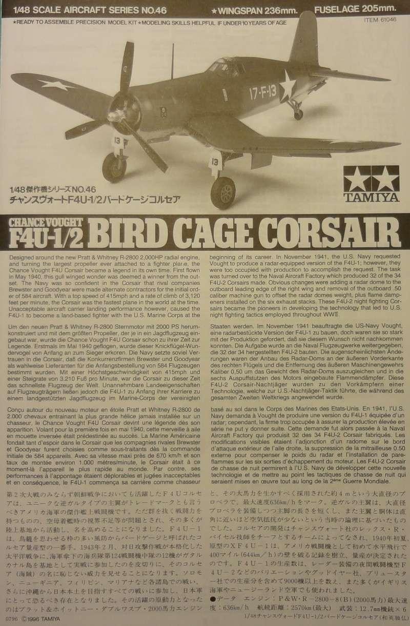 Chance Vought F4U-1 Birdcage Corsair [Tamiya 1/48] F4u1_010