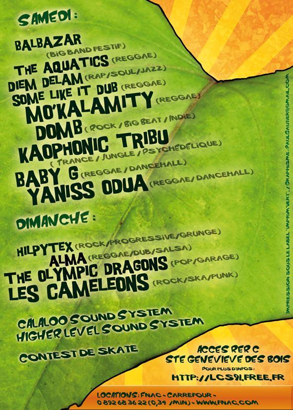 Le Festival ECOLO'ZIK 2008 des Canards Sauvages lcs91 Flyerc11