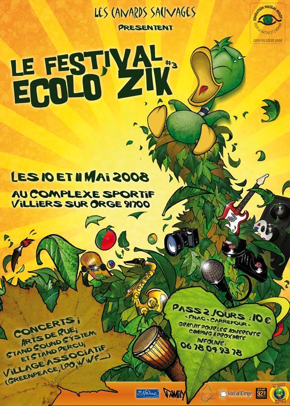 Le Festival ECOLO'ZIK 2008 des Canards Sauvages lcs91 Flyerc12