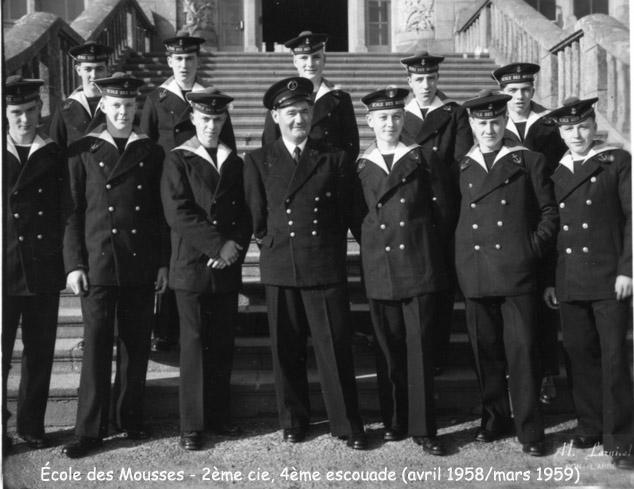[ École des Mousses ] 2ème Cie Avril 58 - Mars 59 1958_011