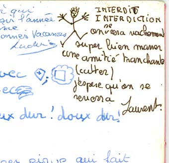 Les p'tits mots sur les cahiers de texte et les agendas ... Carnet11