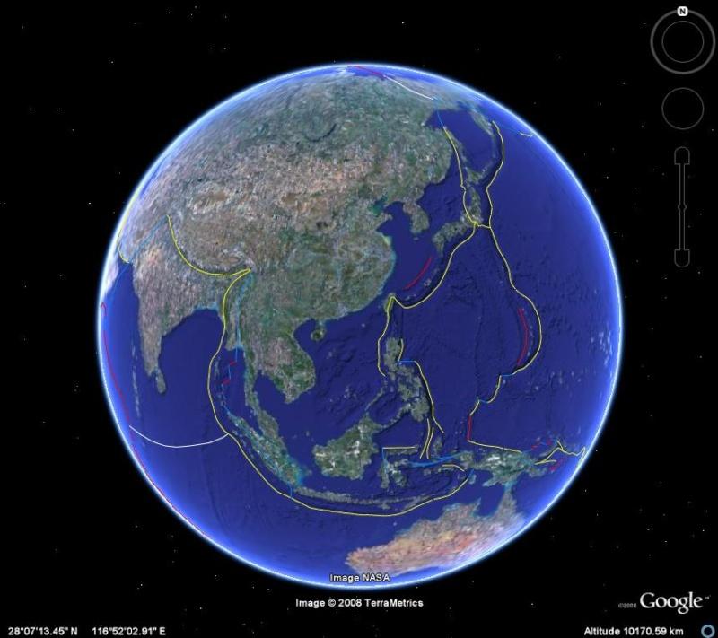 tectonique des plaques / dérive des continents / Plaques océaniques Tecton10