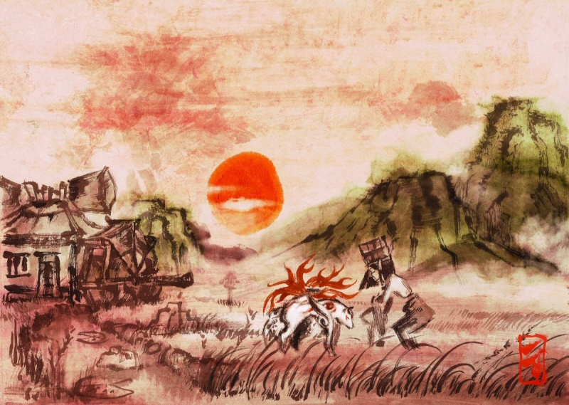 Vos oeuvres picturales favorites Okami210