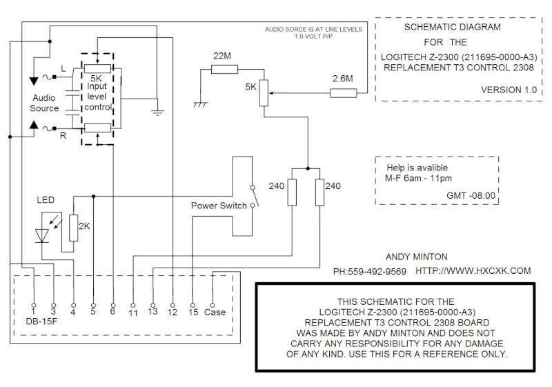 Comment brancher caisson logitech Z-2300 sans Wired remote ? Flash-10