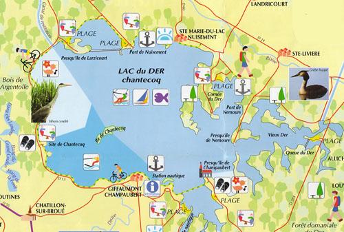 Lac du Der-Chantecoq – Grand lac public – Marne (51) Carte_11