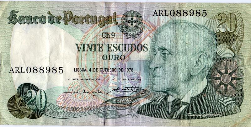 20 escudos. Billet11