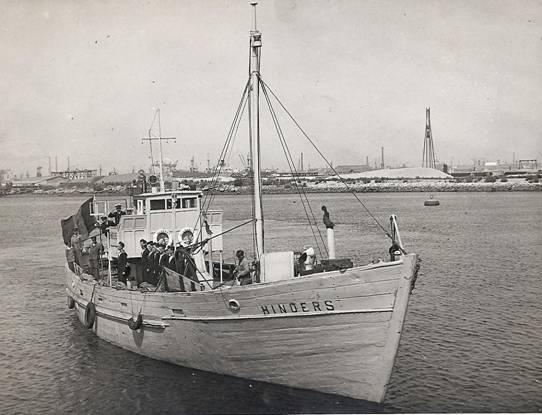 le chalutier Hinders de l'école de navigation d'Ostende 1946 Hinder10