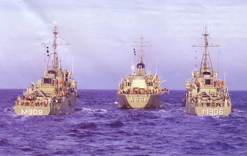 La flottille belgo-néerlandaise de lutte contre les mines Octopu11