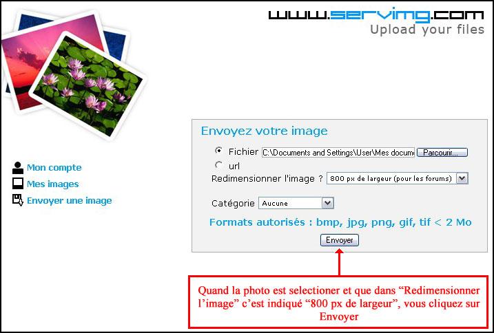 Comment mettre vos photos sur le forum ? Servim12