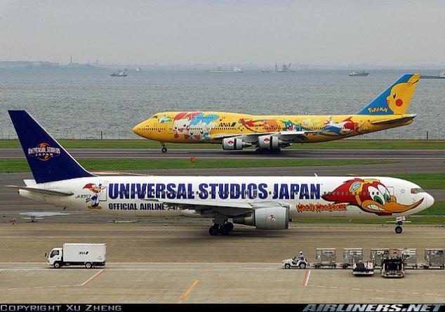صور لطائرات مرسوم عليها رسوم متحركة A_00710
