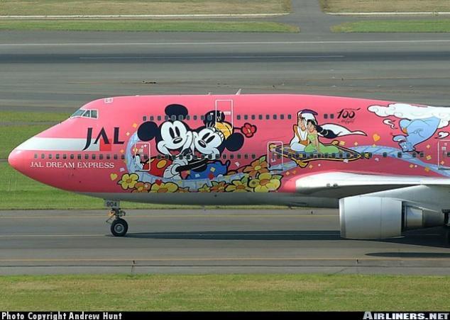 صور لطائرات مرسوم عليها رسوم متحركة A_00910