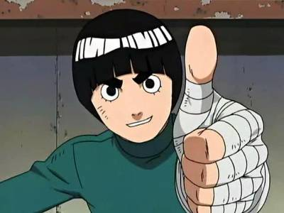Rock Lee avec son tajutsu Rock_l10