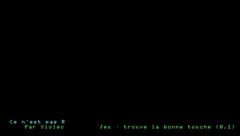 [Lua]La bonne touche 210