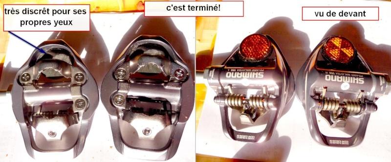 tuto en photos:catadioptres sur pédale SPD Shimano A600 Catadi14