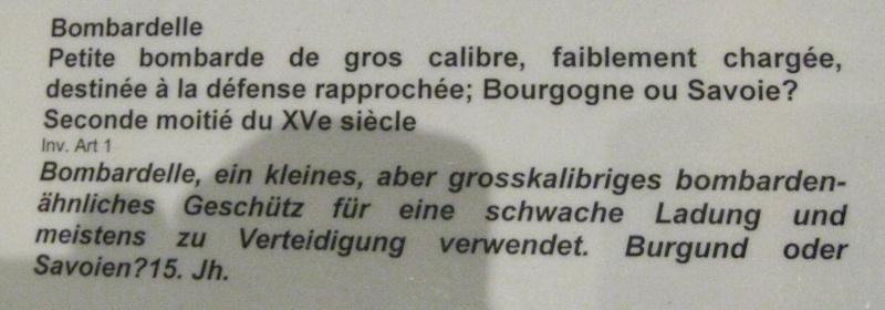 Bombardelle du musée de Morges en Suisse (XVe) Bombar11