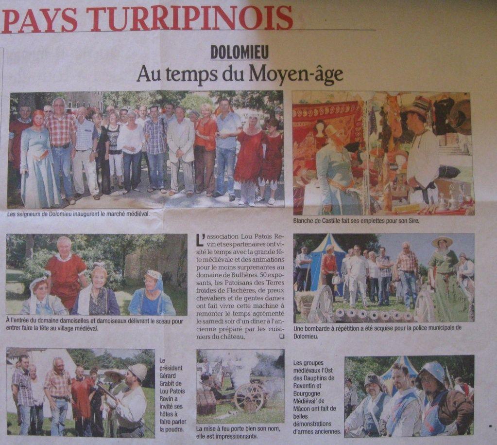 Article Dauphiné libéré 28 juin 2010 pour la fête de Dolomieu Dolomi10