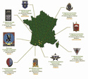 11e Brigade Parachutiste, implatationet composition 11e_bp10