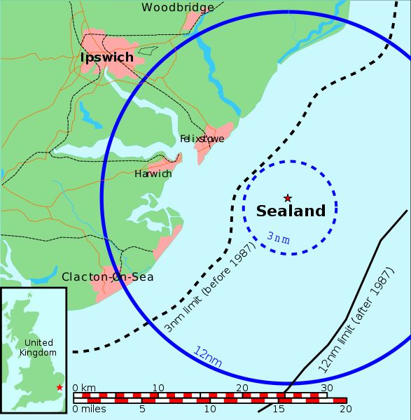 Les Forts Maunsell- Principauté de Sealand - Mer du Nord - UK 587px-10