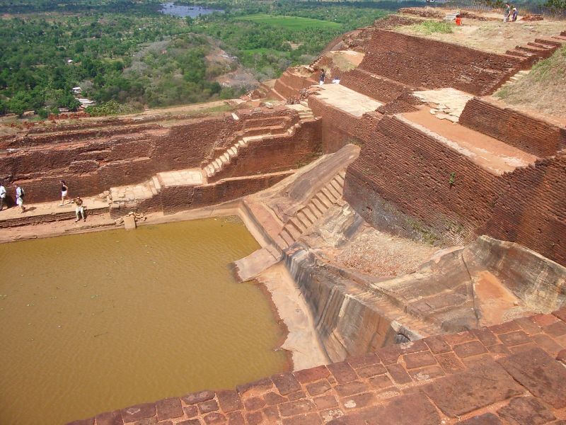 Sigiriya - Le Roc du Lion - Sri-Lanka - Ceylan. 800px-12