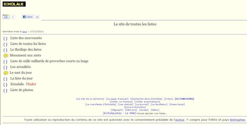 ECHOLALIE : Le site de toutes les listes Captu385