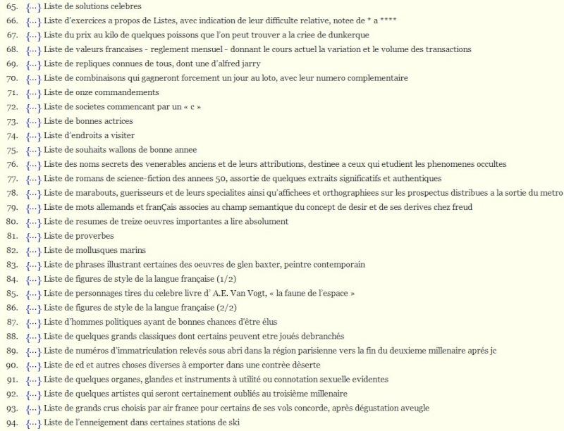 ECHOLALIE : Le site de toutes les listes Captu386