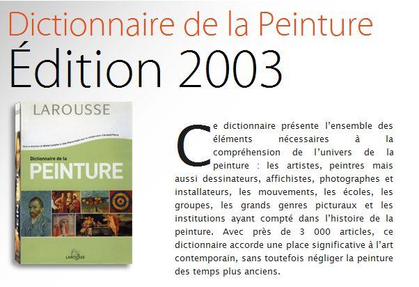 Larousse : Dictionnaire de la Peinture Captu391