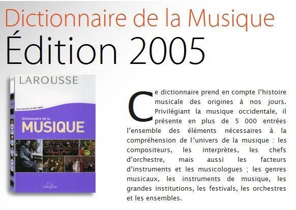 Larousse : Dictionnaire de la Musique Captu394