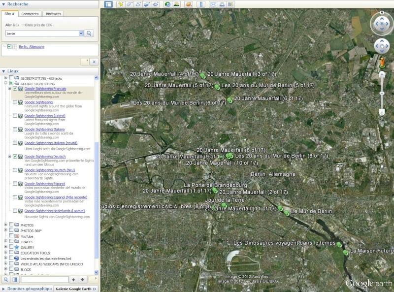 Votre onglet LIEUX PRÉFÉRÉS sur le logiciel Google Earth Captu413
