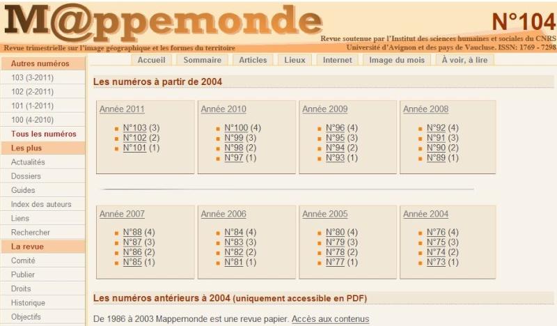La revue géographique MAPPEMONDE Captu458