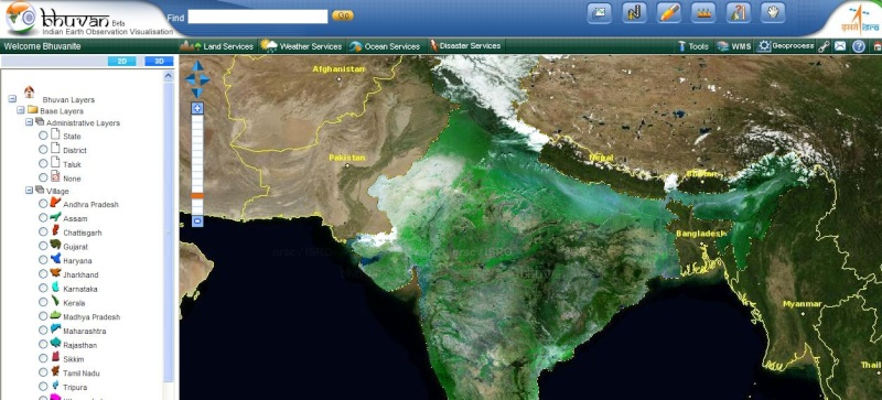 BHUVAN Un Google Earth made in India Captu578
