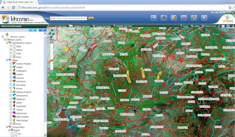 BHUVAN Un Google Earth made in India Captu579