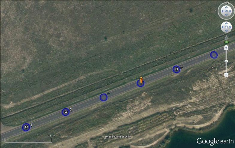 Cliché par cliché : le suivi tracé d'une Google Car en Utah - USA Captu621