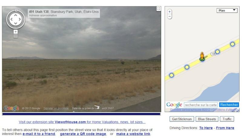 Cliché par cliché : le suivi tracé d'une Google Car en Utah - USA Captu622