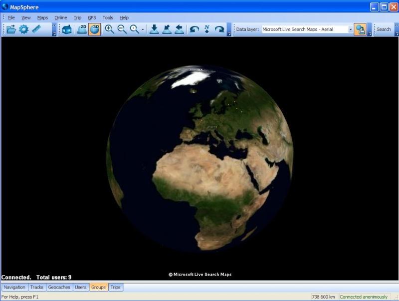 MapSphère : une alternative à Google Earth Captu635