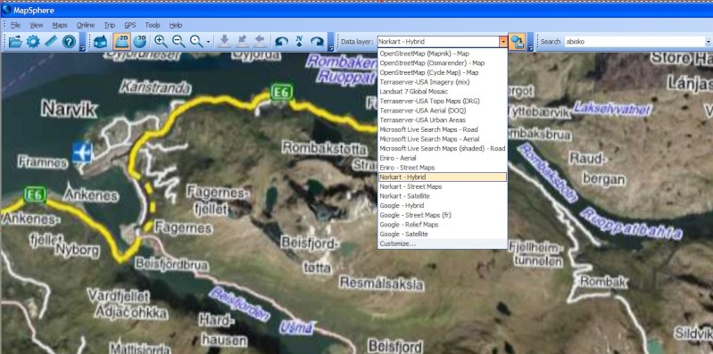 MapSphère : une alternative à Google Earth Captu638