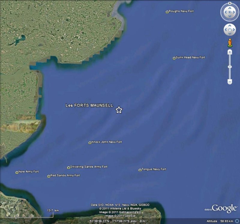 Les Forts Maunsell- Principauté de Sealand - Mer du Nord - UK Fm10