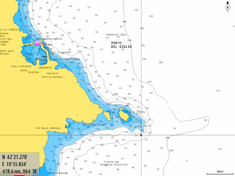 Cartes Marines - Nautical Maps - Cartas Nauticas - Page 3 Giglio10