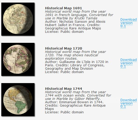 MARBLE VIRTUAL GLOBE - KDE Education Project Globe012