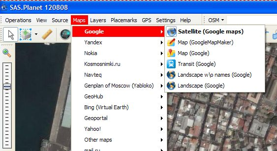 SAS Planet et Google Earth Google13
