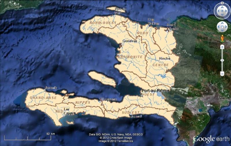 Cartes d'ArcGIS en overlay sur Google Earth Haiti_11