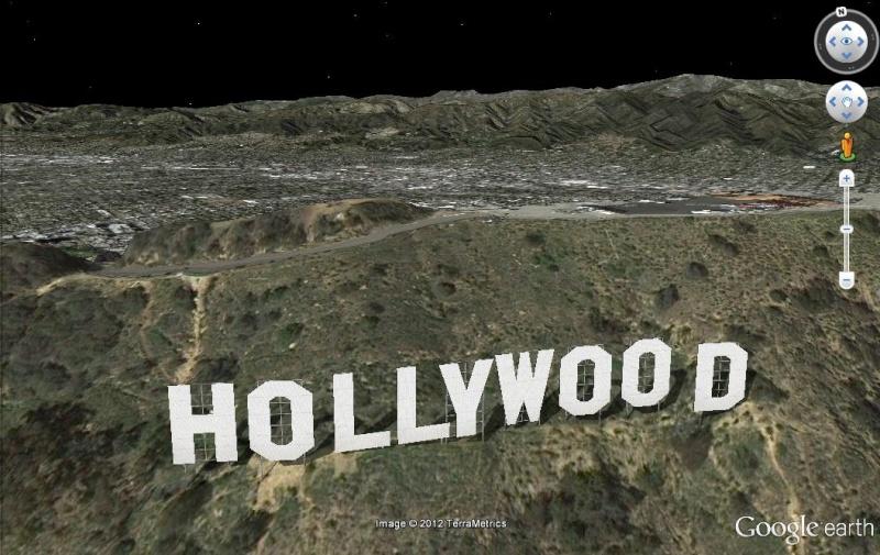hauteur lettre hollywood Le panneau
