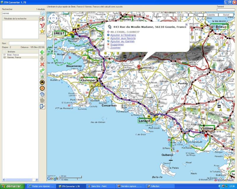TUTORIEL : ITN Converter - Création d'itinéraires pour GPS    It110