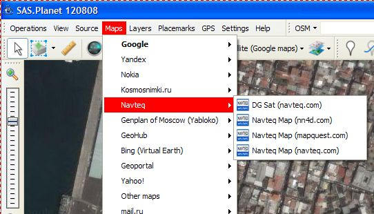 SAS Planet et Google Earth Map112