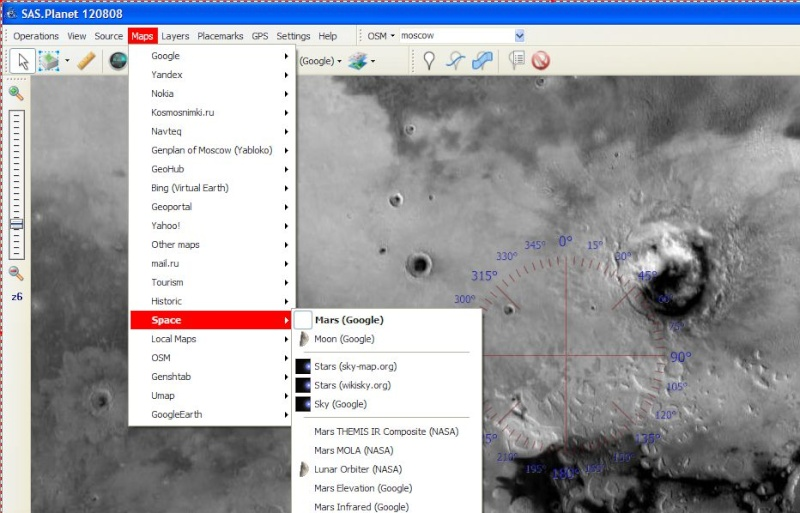 SAS Planet et Google Earth Map123